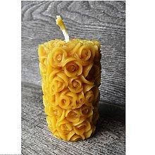 Svietidlá a sviečky - Sviečka - ružičky - 5910355_
