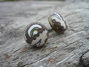 Náušnice - Náušnice Buttonky Retro stylovky - 5907268_
