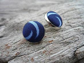 Náušnice - Náušnice Buttonky Blue sky - 5907332_