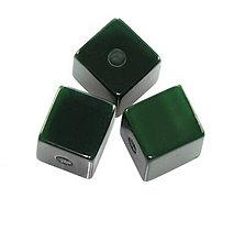 Korálky - Živicová kocka, zelená /5ks - 5907768_
