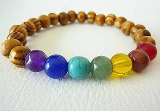 Šperky - Pánsky náramok čakrový - 5908804_