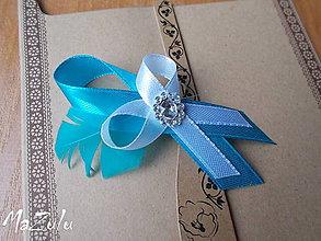 Pierka - svadobné pierko s tyrkysovým perím - 5908434_