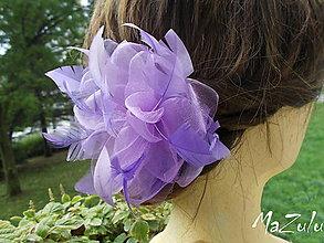 """Ozdoby do vlasov - plesová spona """" lila """" - 5909618_"""