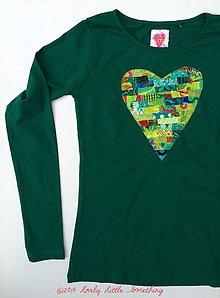 Tričká - Srdcotričko zelené, veľkosť S,M,L - 5908255_