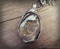 Náhrdelníky - Púpava: Inšpiratívny náhrdelník - 5910065_