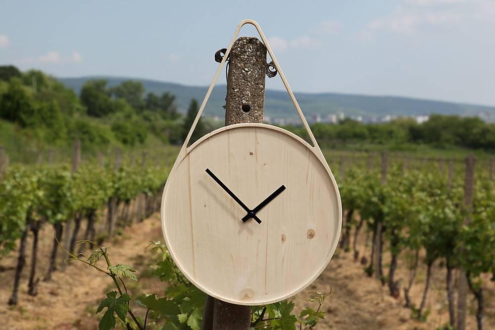 Marc Drop Clock - drevené nástenné hodiny