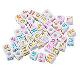 Korálky - Korálky znamenia farebné (balíček 10ks) - 5910188_