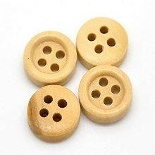 Galantéria - Drevené gombíčky 11mm - 5910612_