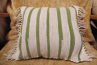 Úžitkový textil - Bielo-zelená obliečka na vankúš - 5909552_