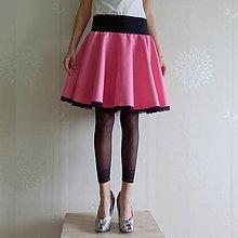 Sukne - *Kolová sukýnka s krajkou* - 5913804_