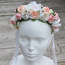 Ozdoby do vlasov - Romantická ružičková parta - 5913501_
