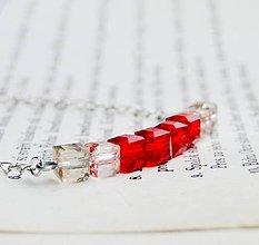 Náhrdelníky - Smooth Red (Cube) #0608 - 5911586_