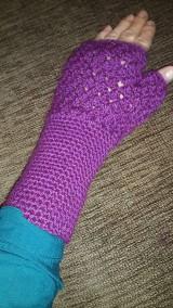 Rukavice - Fialové rukavičky - 5911985_