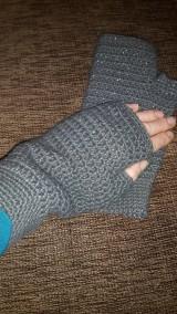 Rukavice - Sivé rukavičky - 5912004_