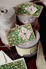 Papiernictvo - Vianočná pohľadnica *2 s visačkami - 5912769_