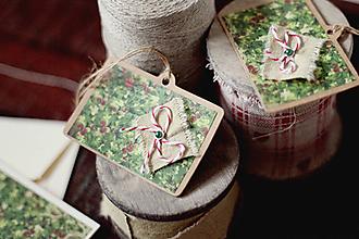 Papiernictvo - Vianočné visačky na darček - 5912768_