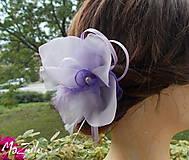 Ozdoby do vlasov - plesová spona lila & levanduľa - 5911487_