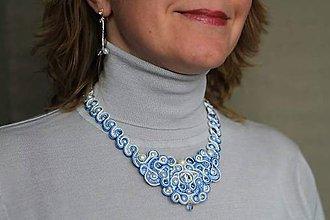 Sady šperkov - Svetlo modrý set, soutache - 5913797_