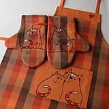 Úžitkový textil - ♡ LÁÁÁSKA ♡ - zástěra a chňapky - 5911454_