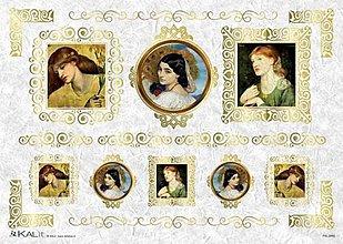 Papier - ryžový papier Vintage dámy - 5913895_