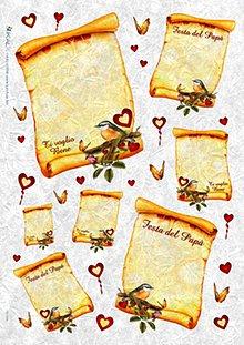 Papier - ryžový papier zaľúbené listy - 5913997_