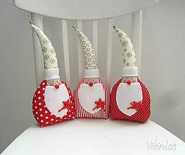 Dekorácie - Vianočný Miki Mikuláš ...červený - 5912981_