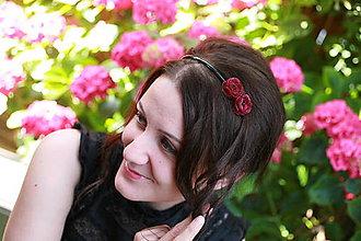Ozdoby do vlasov - Čelenka maky - 5914002_