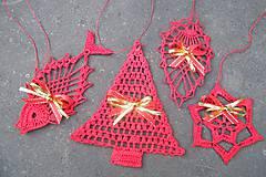 Dekorácie - Červená sada vianočných ozdôb - 5914172_