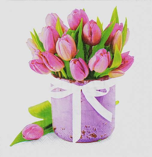Servítka Tulipány