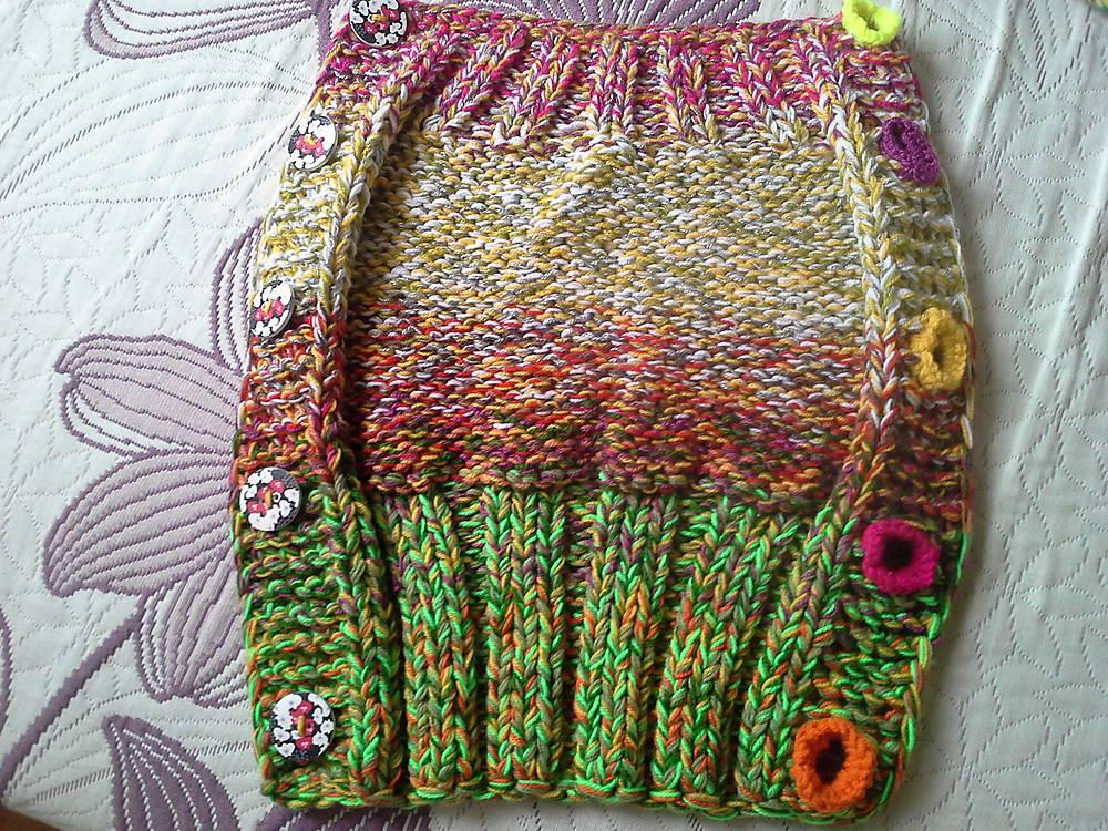 pletený sveter + vsadka