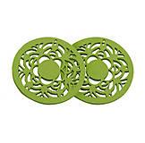 - Drevený kruh, zelený /2ks - 5916818_