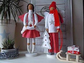 Bábiky - Vianočný párik - 5915204_
