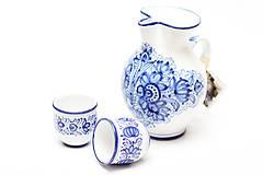 Nádoby - Modrý džbán na víno - 5915619_