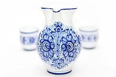 Nádoby - Modrý džbán na víno - 5915622_