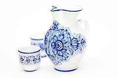 Nádoby - Modrý džbán na víno - 5915623_