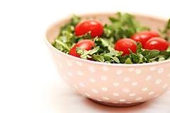 Nádoby - Ružová miska s bodkami - 5915718_