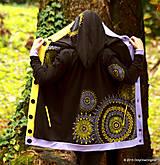 Mikiny - Dámska mikina s kapucou, vreckami, maľovaná TIBEŤANKA - 5916194_