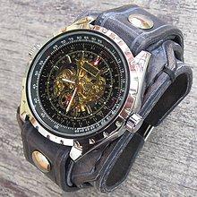 Náramky - Štýlové kožené hodinky modré - 5915410_
