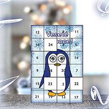 Dekorácie - Adventný kalendár - tučniak - 5915153_