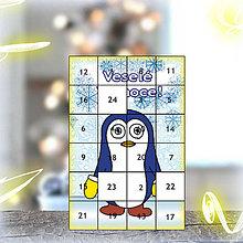 Dekorácie - Adventný kalendár - tučniak (7) - 5917505_