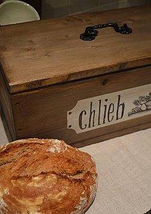 Nádoby - Drevený chlebník - 5915332_