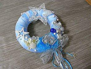 Dekorácie - vianočný veniec - ľadové opojenie - 5922434_