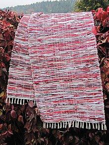 Úžitkový textil - koberec tkaný bordovo-červený 0,7 x 3 m - 5921528_
