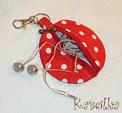 Taštičky - Kapsička - trendy (v červenom) - 5921517_