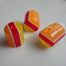Korálky - Živicové korálky-valček 11mm-1ks - 5920131_