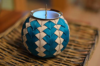 Svietidlá a sviečky - Vianočný svietnik - 5922220_