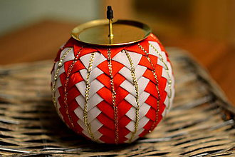 Svietidlá a sviečky - Vianočný svietnik red - 5922348_