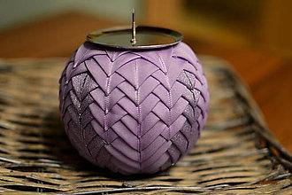 Svietidlá a sviečky - Vianočný svietnik purple - 5922429_