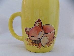 Nádoby - Hrnček - Sleeping Fox - 5921989_
