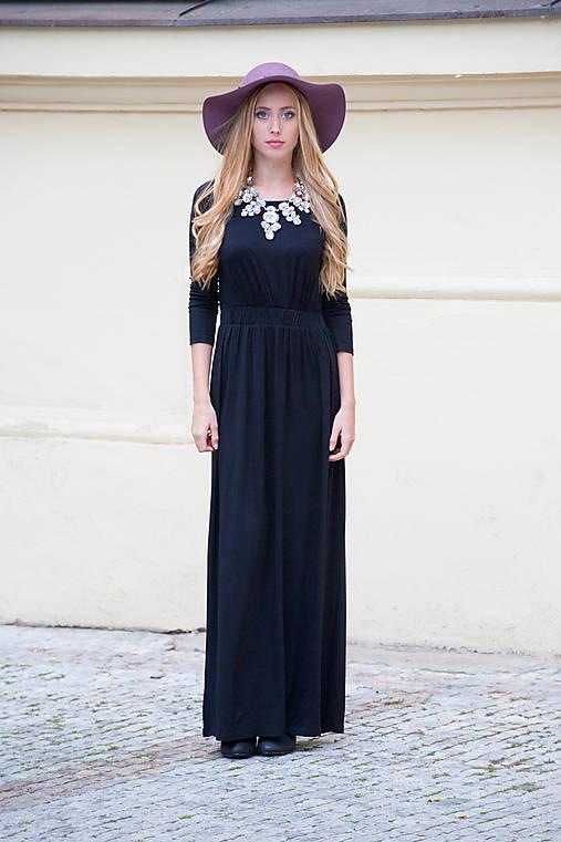 58a2d9da0725 Dlhé šaty - Talianske   indiva - SAShE.sk - Handmade Šaty